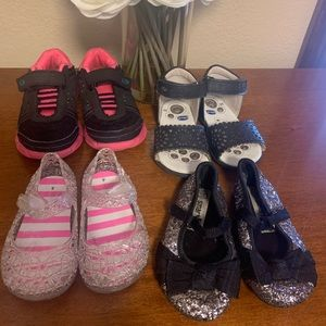 Other - 4 Pair Sneaker, Sandal & Flats Size 4